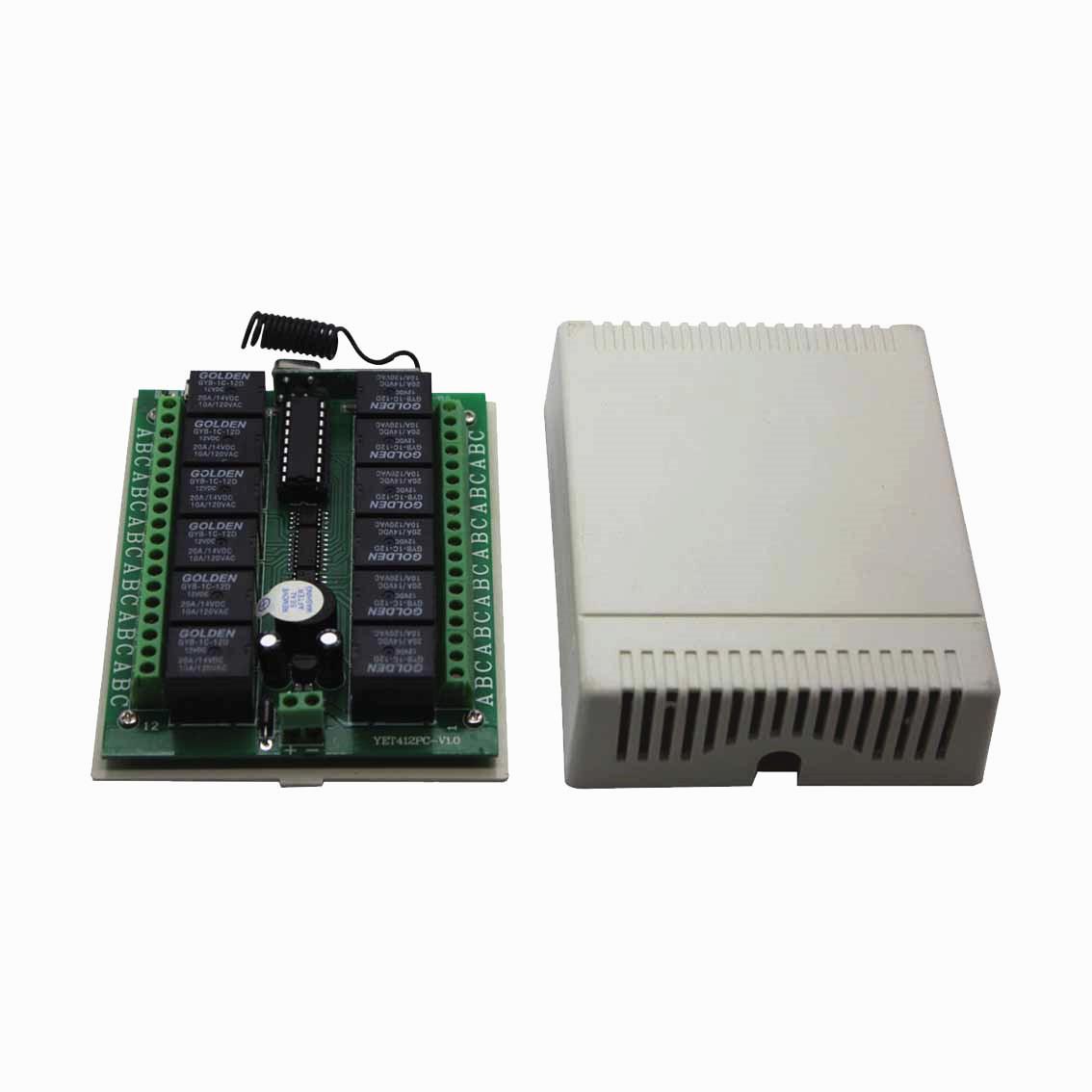 YET412PC十二路无线智能接收控制器