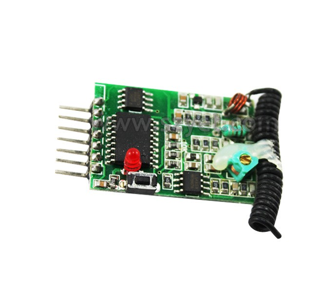 YET208PC-SD超再生智能型3-5V低功耗带解码无线接收器