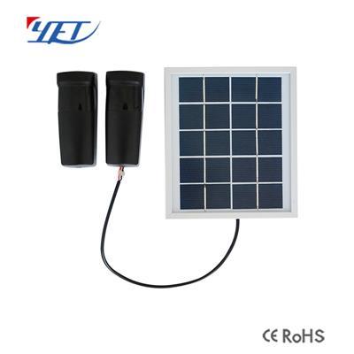 YET610-新款红外对射探测器(太阳能充电板)